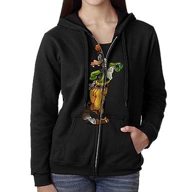 bc7856a40d5 Popular Cartoon Dog Goofy Women's Sweatshirts 90s Zip Zipper Top at Amazon  Women's Clothing store