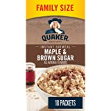QUAKER Maple & Brown Sugar Family Pack Instant Oatmeal (18 Packets x 43 g), 774 g