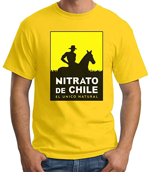 35mm - Camiseta Hombre Nitrato De Chile-Retro 80s, Amarillo, ...