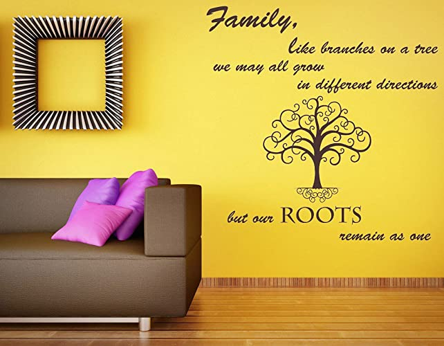 Amazon.com: Family Like Branches on a tree Quote, Vinyl Wall Art ...