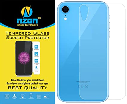 free shipping df959 c6182 nzon iPhone XR Tempered Glass Edge to Edge[Full Coverage] [Anti Glare][Anti  Fingerprint] Tempered Glass Screen Protectors for iPhone XR (Back Tempered  ...