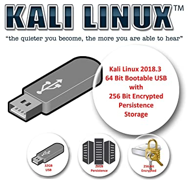 Kali Linux 2018 3 on 32GB USB with Encrypted Persistence Storage of