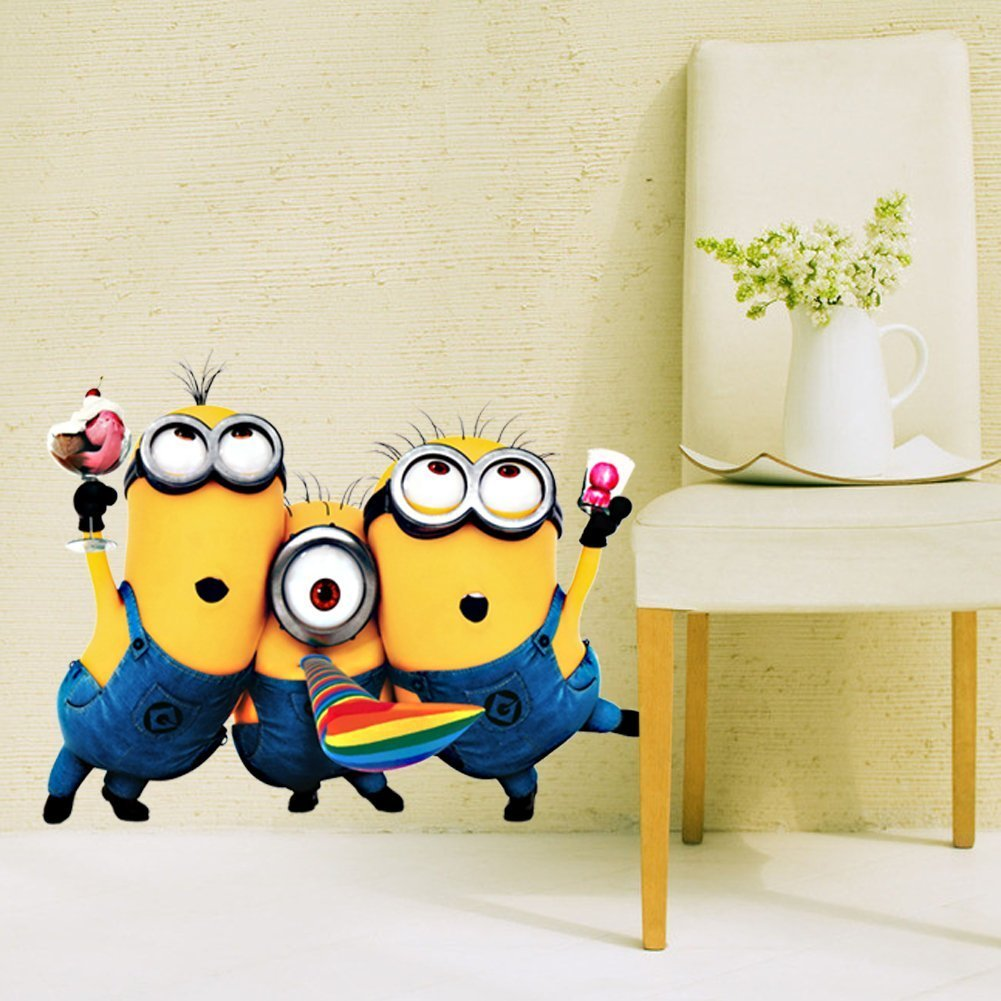 Despicable me minion little girl kid child wall sticker decal home despicable me minion little girl kid child wall sticker decal home room decor 2532cm amazon kitchen home amipublicfo Images