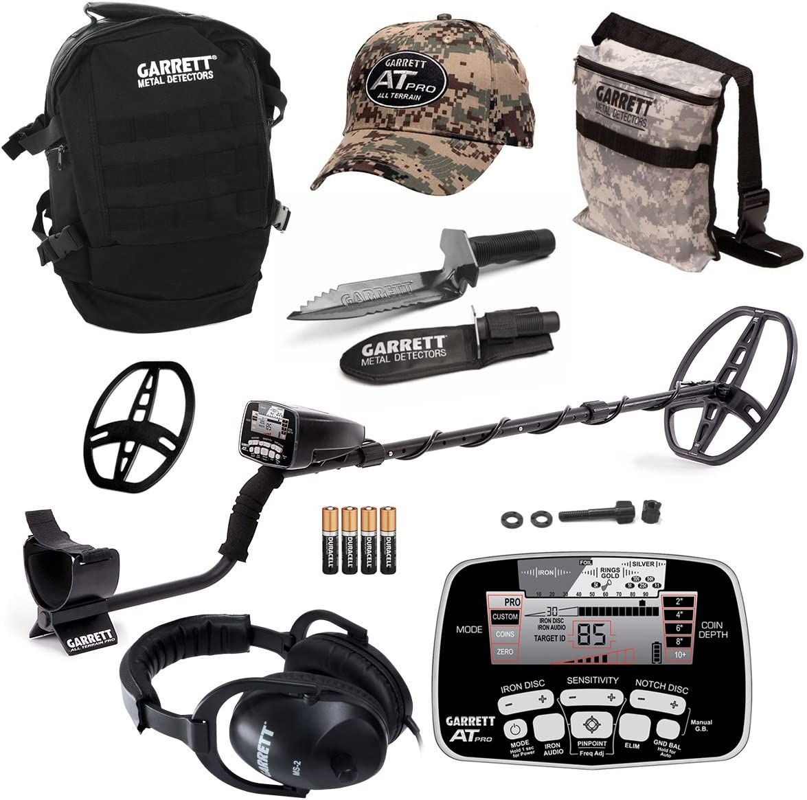 Garrett AT Pro Waterproof Metal Detector with Edge Digger Accessory Bonus Pack