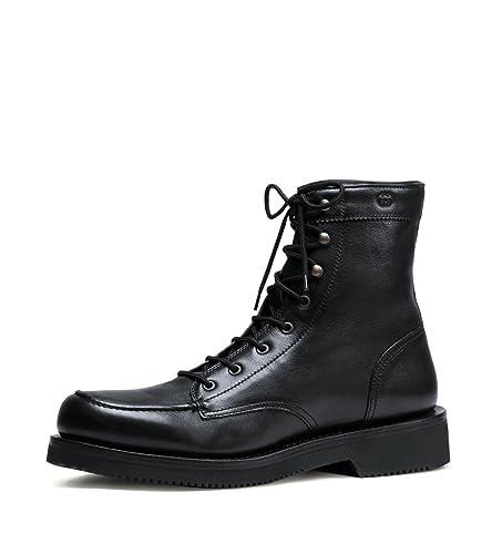 2447f55c2f9 Gucci Homme Noir Cuir interverrouillage G Lace Up Bottes 352955 1000 (11  U.S.   10