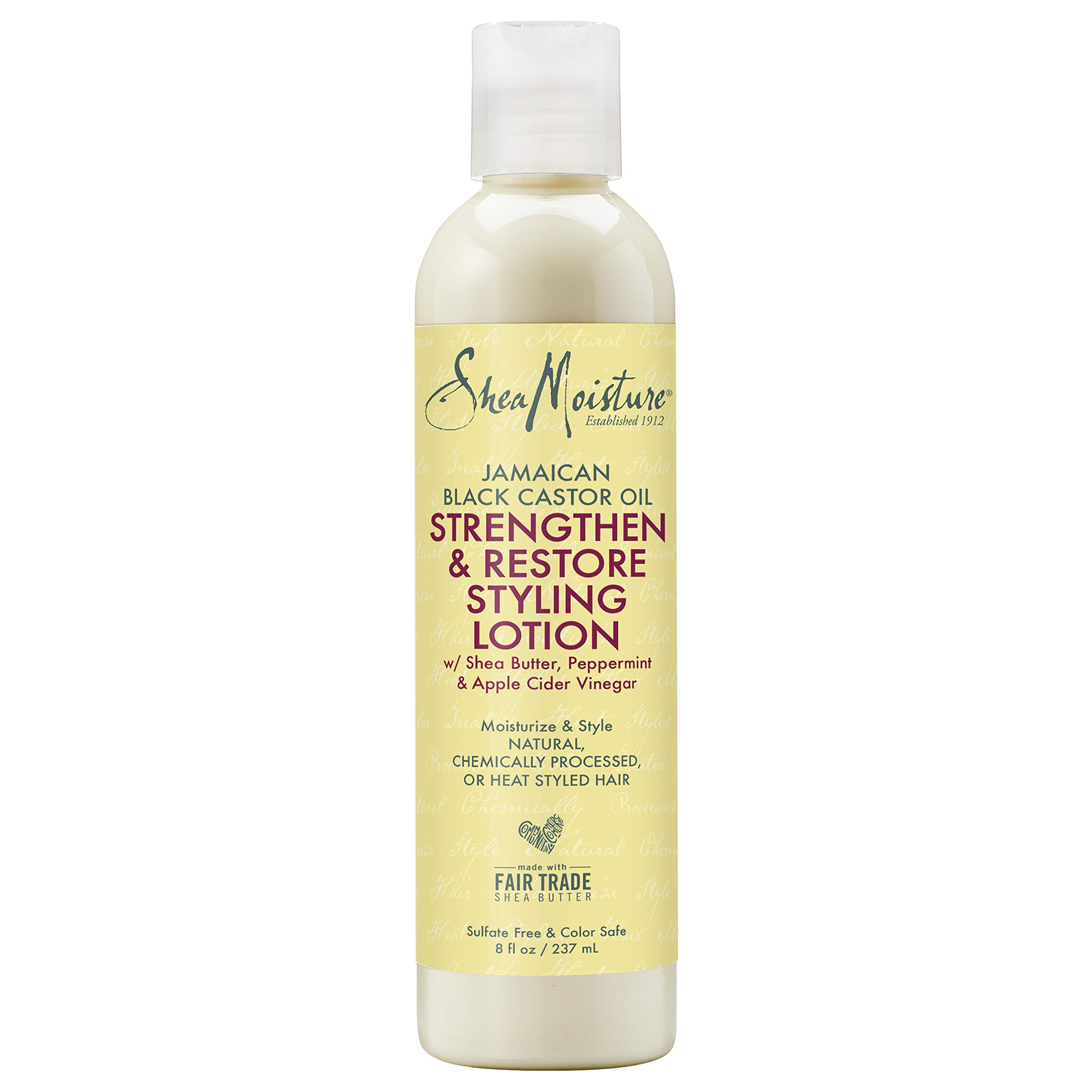 Sheamoisture Styling Lotion for Damaged Natural Hair Jamaican Black Castor Oil Silicone Free Hair Treatment 8 oz