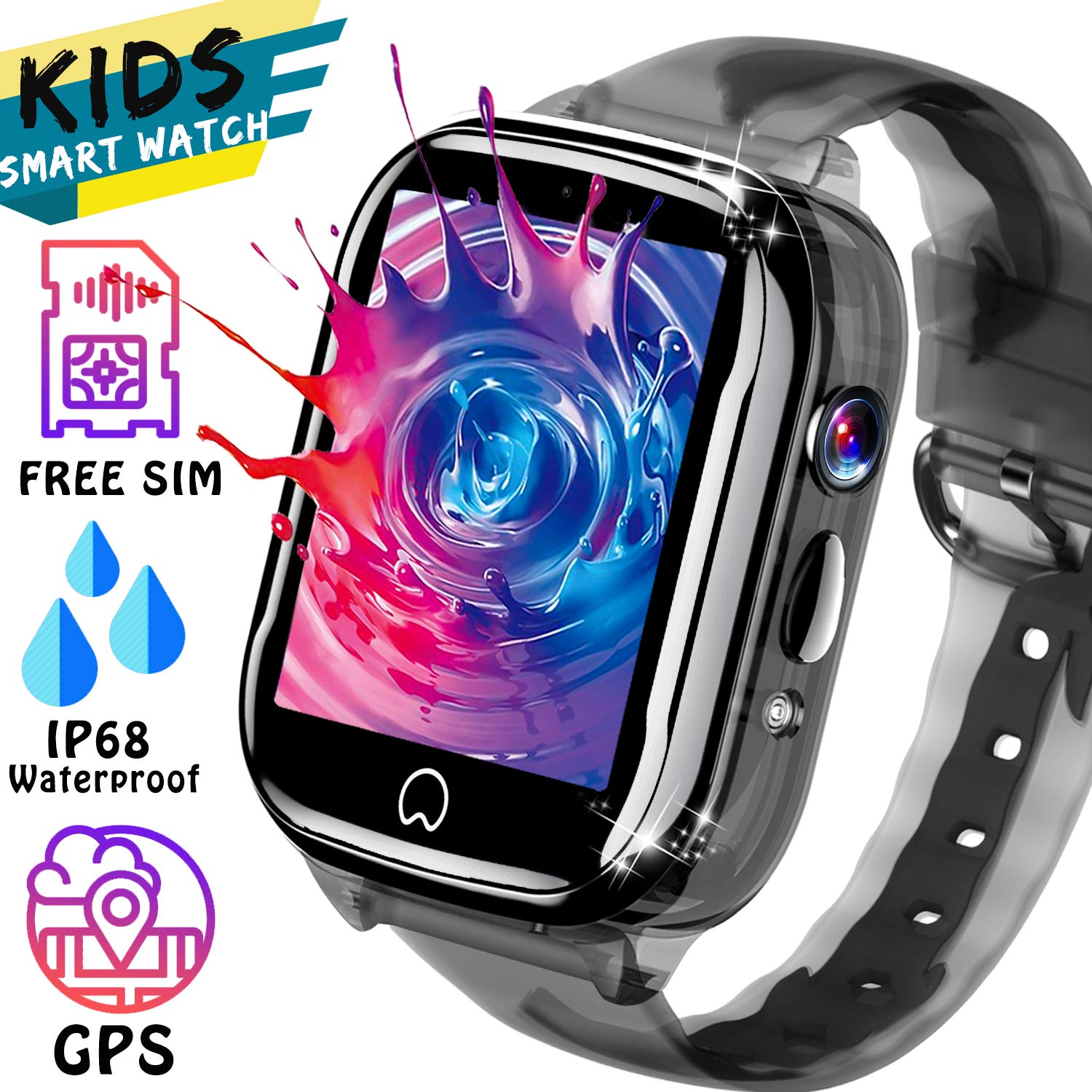 Amazon.com: Kids Smart Watch GPS Tracker - [SIM Card ...