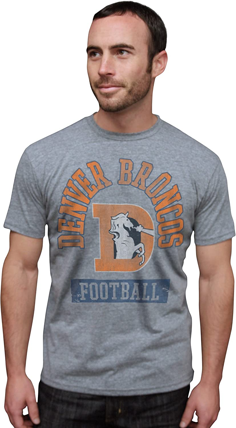 NFL Denver Broncos Vintage Triblend Short Sleeve Crew Neck Tee Men's