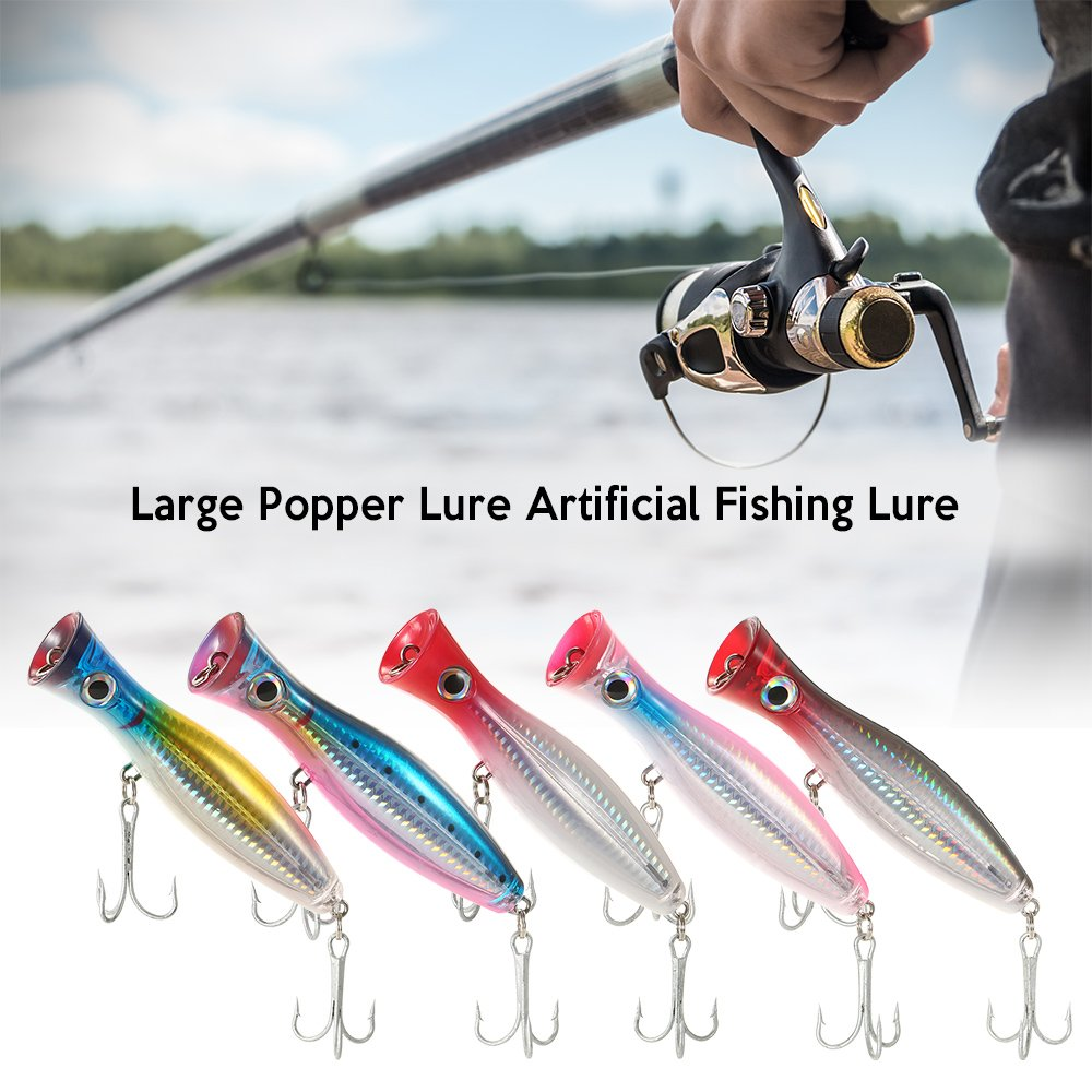 Tronixpro Mega Popper Bass and Pike Fishing Lure 150mm 47g Various Colours