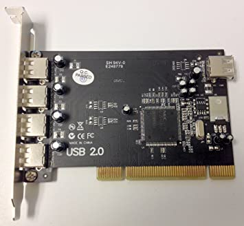 Amazon.com: NEC d720101gj USB 2.0 4 + 1-Port PCI Tarjeta ...