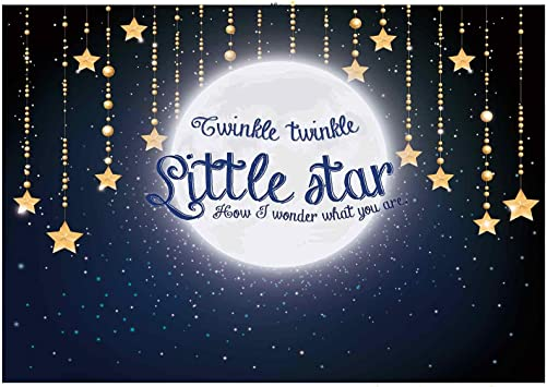 Hasdrop Twinkle Twinkle Little Star Backdrop 10X8FT Vinyl Bokeh Starry Moon Night Backdrops Nebula Wallpaper Fairytale Wonderland Photography Background for Girls Birthday Photo Studio Props HKX147