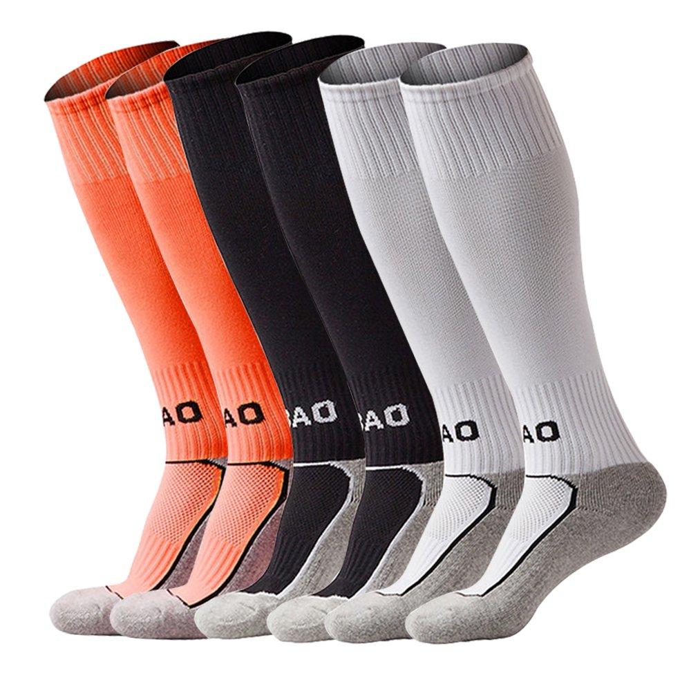 LITAO SOCKSHOSIERY ユニセックスキッズ B0725FQRFK Orange&black&white Orange&black&white