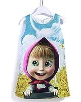 885bd83987f MIQI Girls Cartoon Dress Baby Girl Vest Summer Dresses Masha And The Bear  Party Dress