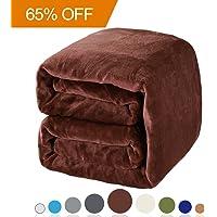 Balichun Luxury 330 GSM Fleece Blanket Super Soft Warm Fuzzy Lightweight Bed or Couch Blanket