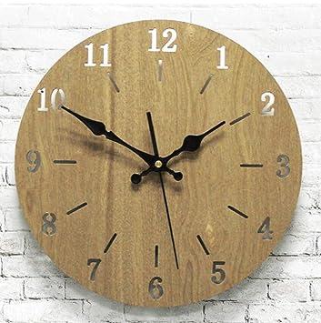 Amazon.de: Wanduhr Nordic Wooden Wooden Uhren Uhren ...