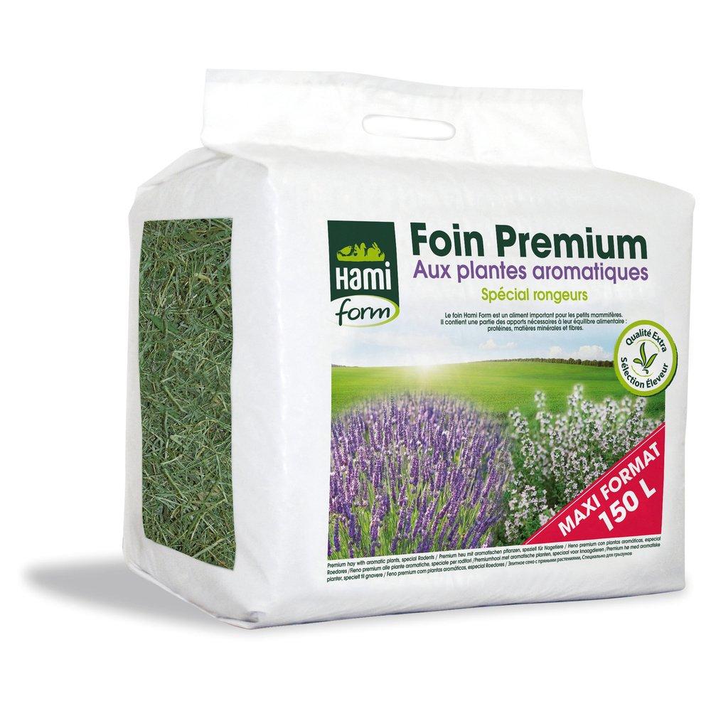 Foin pour Rongeurs, Premium aux plantes aromatiques - 150 L - HAMIFORM