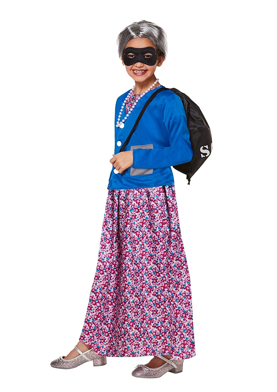 Janisramone Disfraz de abuela traviesa para niños y niñas - Azul ...