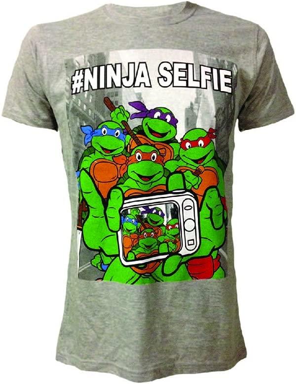 Tortugas Ninja Camiseta Selfie talla L: Amazon.es: Videojuegos