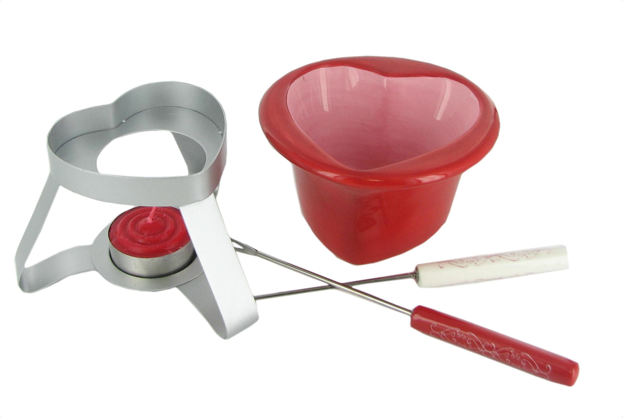Here's to Love Heart Shaped Fondue Set by Russ Berrie