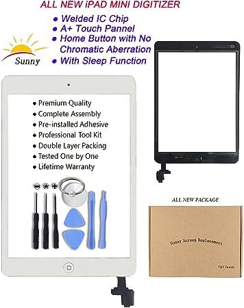 Ipad Mini Model A1432//A1454//A1455//A1489//A1490 White Digitizer  Screen  Glass  In