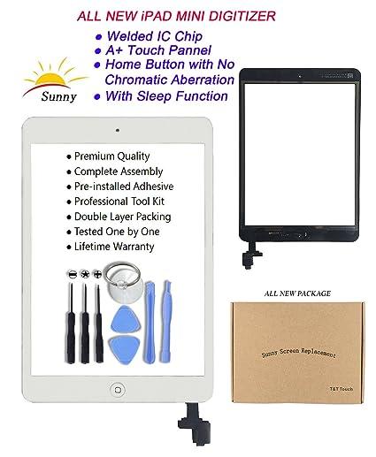 iPad Mini Model A1432/A1454/A1455/A1489/A1490 White Digitizer Replacement  Screen
