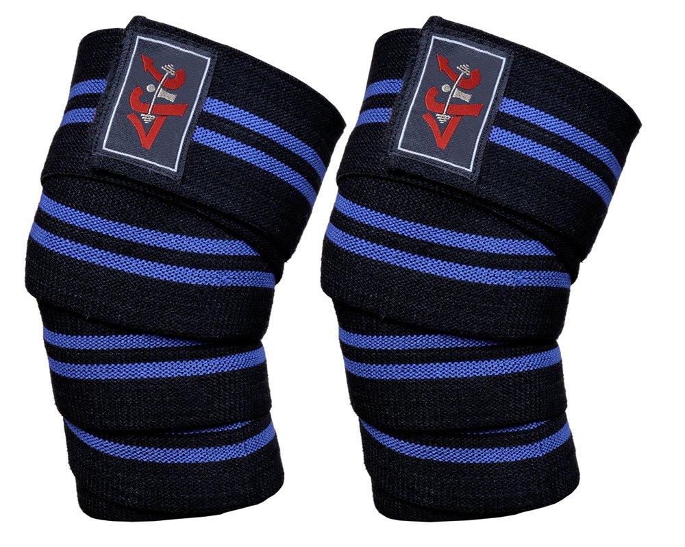 4フィット電源リフターWeight Lifting膝ラップサポートジムトレーニングFistストラップ Black with with Blue Stripes Black Stripes B00MTRZ72I, 矢祭町:cdcee0ba --- capela.dominiotemporario.com