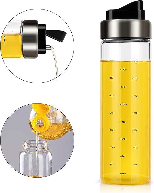 Glass Leakage-proof Olive Oil Vinegar Dispenser Bottle Pourer Kitchen Cook Tool