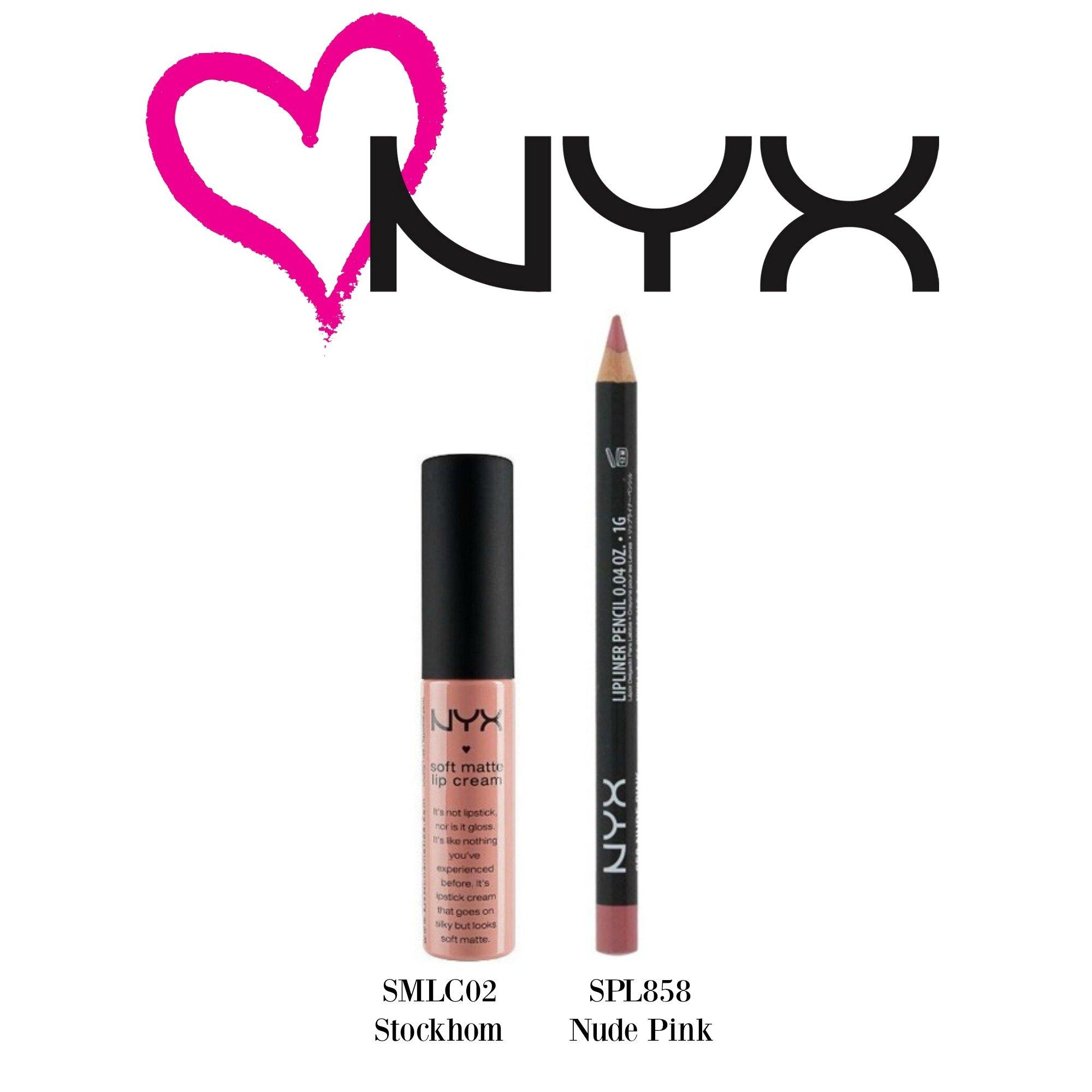 NYX Soft Matte Lip Cream Stockholm(SMLC02) & Slim Lip Pencil Nude Pink (SPL85...