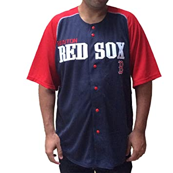 purchase cheap 1b84c 027f0 Men's Embroidered Boston Red Sox Jersey, Navy & Red (XL ...