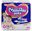 MamyPoko Pants Extra Absorb Diaper-Medium Size, Pack of 74 Diapers (M-74)