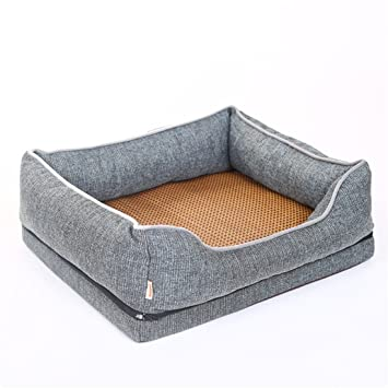 STAZSX Perrera de Perro Pelo Dorado Pomerania Pequeño Perro Grande Lavable Mascota Cama Perro Gato Suministros Sala de Entrega Mat, M: 75X60CM: Amazon.es: ...
