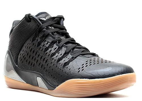 4d3f98a515c6 Nike Kobe IX Mid EXT QS (Black Mamba-Snakeskin) Black Black  Amazon ...