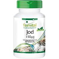Jodium tabletten 150mcg (van kaliumjodide) - VEGAN - 180 jood tabletten