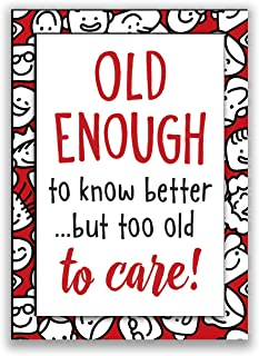 product image for Imagine Design Relatively Funny Enough to Know Better, Caution: May Nap Suddenly, at My Age, I'm Getting So Old, 4-Pk Assort Magnets, Red/Black/White