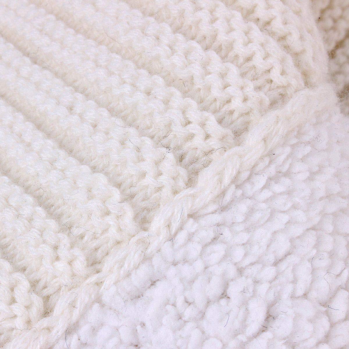 Sac de Couchage B/éb/é Fille Gar/çon Couvertures Demmaillotage Peluche Tricoter Double Couche Hiver Gigoteuses pour Poussette 0-24 Mois