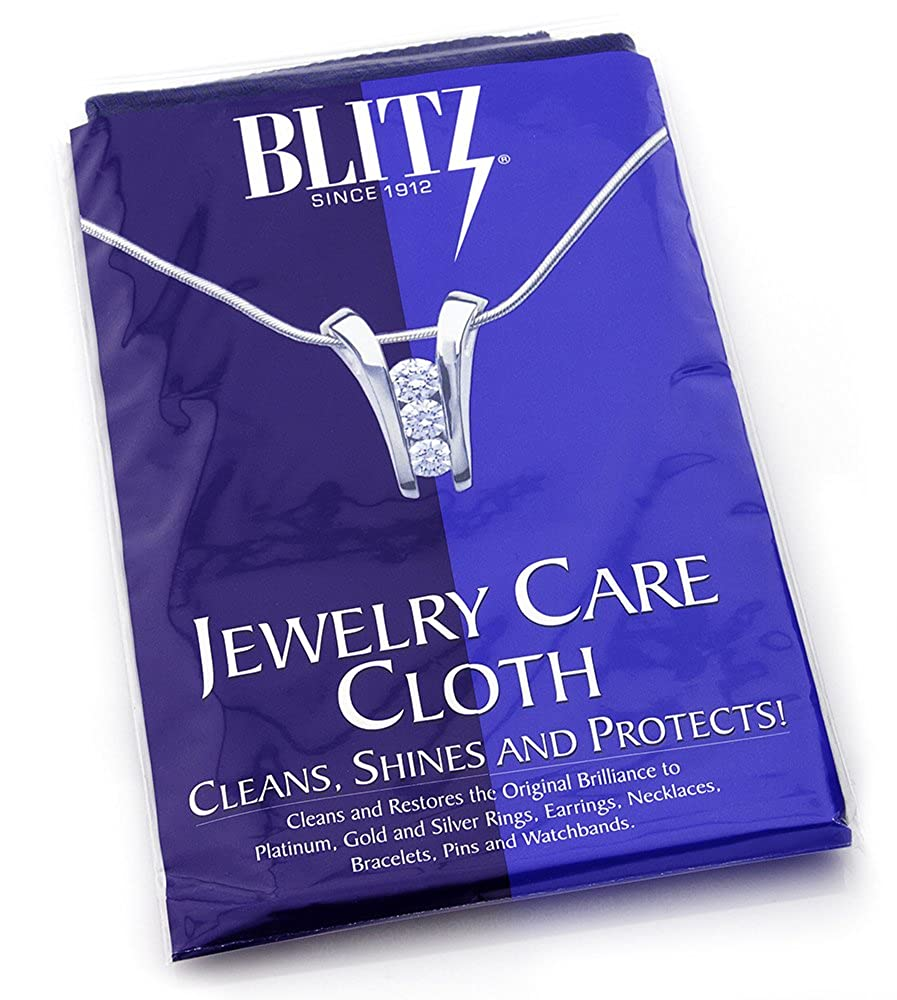 Extra Large Blitz 2-Ply Jewelry Care Cloth, Used by Professionals! Cleans, Shines and Protects! For Gold, Silver, and Platinum. 12x15 117