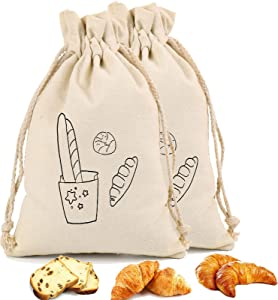 Bread Bags for Homemade Bread Cheese Cloths for Reusable 2 PCS 12
