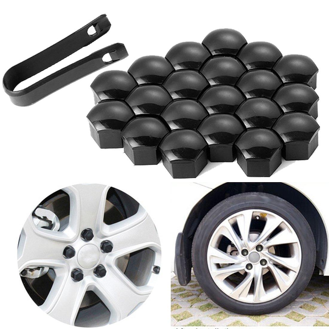 NOTENS 20 piezas tapas de tapas de nueces de coche 17 mm tuercas de rueda tornillos de cabezales de tuercas tapas con herramienta de eliminación: Amazon.es: ...