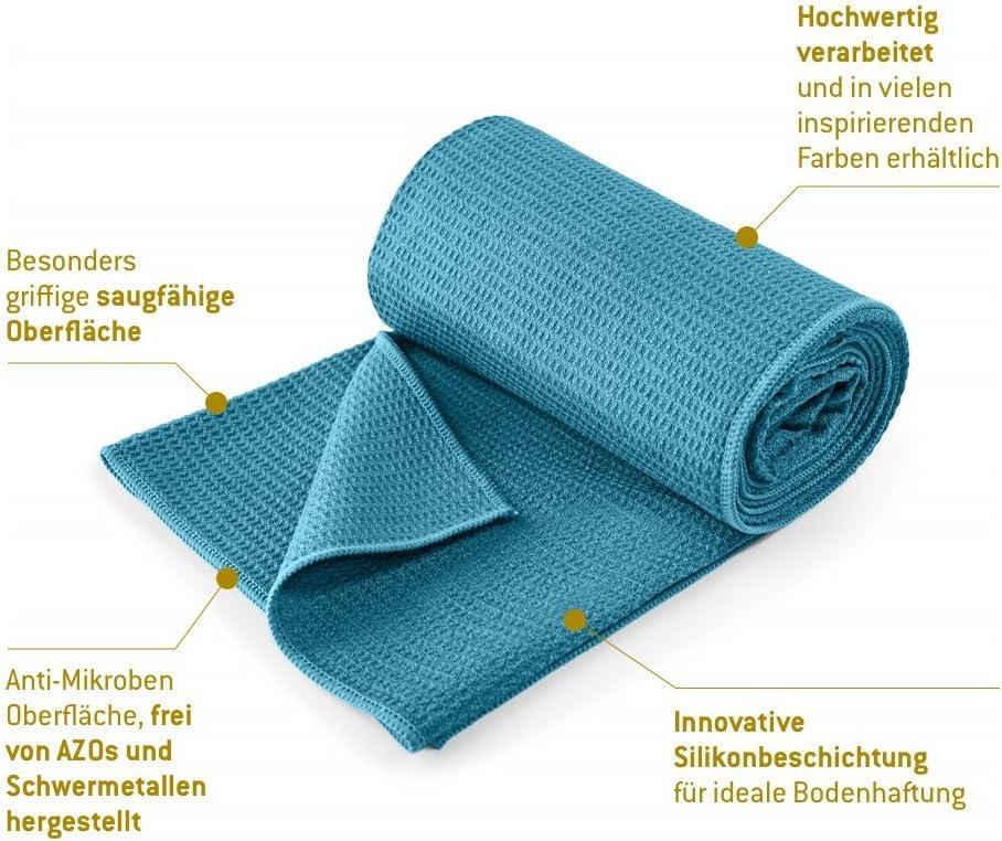 Bikram Yoga Towel 183 x 61 cm Lotuscrafts Hot Yoga Towel Grip Non-slip /& Fast-drying Hot Yoga Mat Towel Non Slip Yoga and Pilates Towel Non Slip Yoga Towel with Excellent Ground Grip