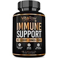 VitaRaw Immune Support Vitamins - Zinc, Elderberry, Vitamin C, Echinacea, Olive...