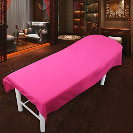 Super Soft Matte Beauty Bed Sheets Beauty Bed Linens Massage Spa Bed Linen Rose  Red