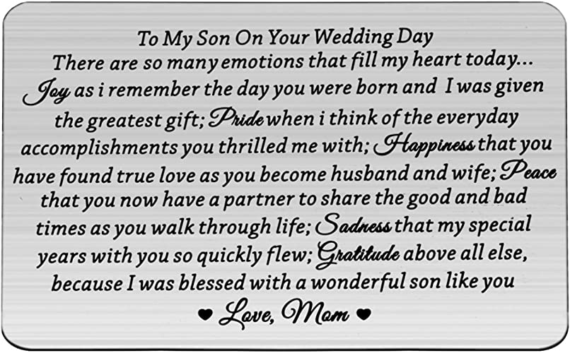 Wedding Gift for Son From Mom Keepsake for Son Gift for Son On Wedding Day Personalized Cross Necklace Gift To My Son On His Wedding Day