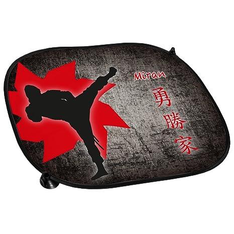 COCHE protector solar con nombre Miran y bolsa de ninja ...