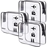 TSA Approved Clear Travel Toiletry Bag wih Zippers Carry-on Travel Accessories Quart Size Toiletries Cosmetic Pouch Makeup Ba