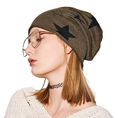 5fdaef6a194c0c Winter Slouchy Beanie for Women--Winter Hats for Women Knit Hat Wool Skull  Cap