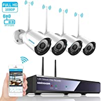 SZSINOCAM Kit de Cámaras Seguridad WiFi Vigilancia Inalámbrica