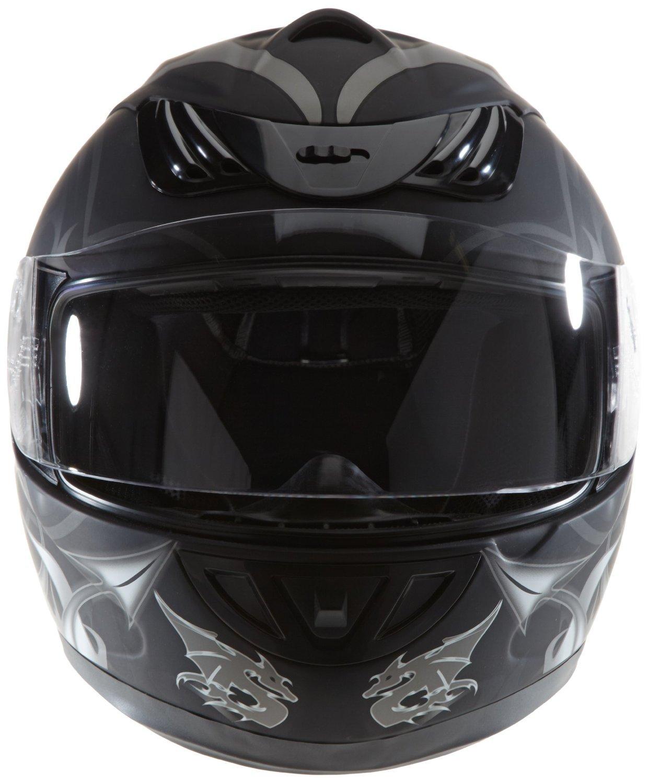 Amazon.es: Protectwear casco de moto negro mate del dragón H-510-11-SW Tamaño M