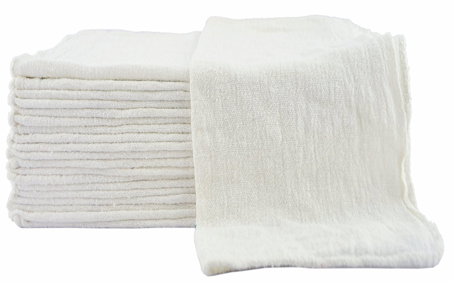 Utopia Towels Shop Towel Towels (Pack of 100) (13 x 13 Inches) Commercial Grade Machine Washable Cotton Washcloths Lint Free White Shop Rag - Perfect for Auto Mechanic Work and Bar Mop (Red) UT0522