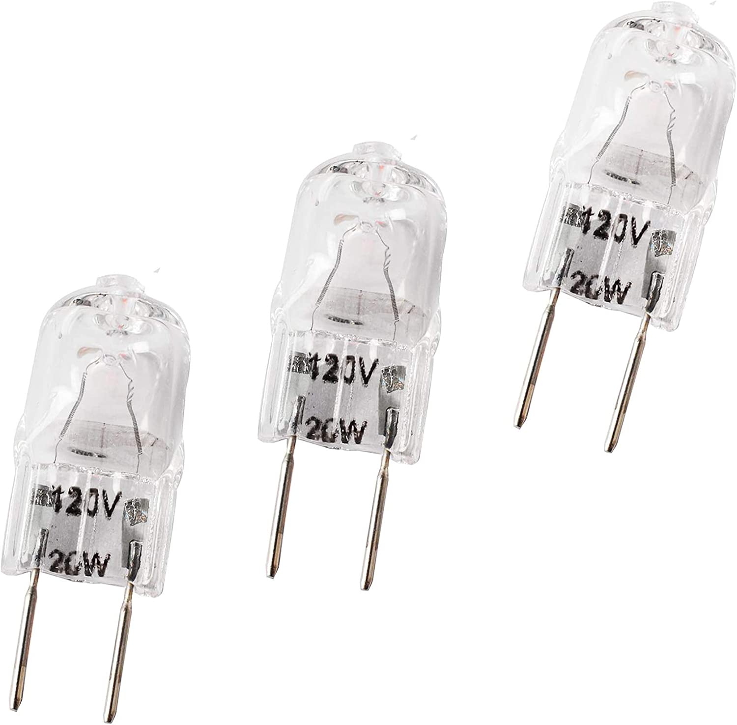 Wadoy WB36X10213 Microwave Light Bulbs, 3 Pack Replacement for Halogen GE Oven Parts G8 120V 20W WB25X10019 WB08X10050 WB36X10246