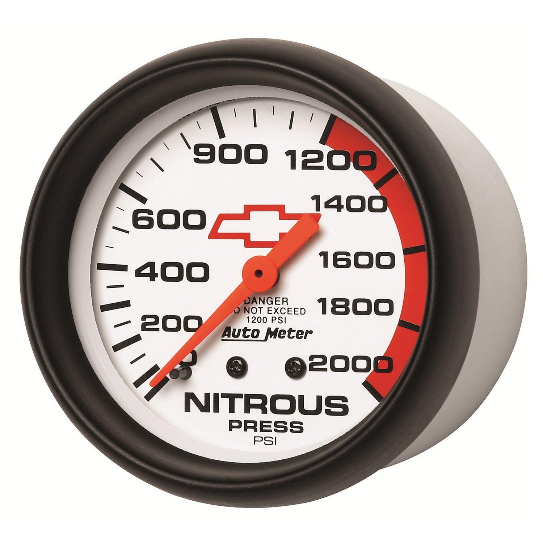 Auto Meter 5828-00406 GM Performance Parts 2-5/8' 0-2000 PSI Mechanical Nitrous Pressure Gauge